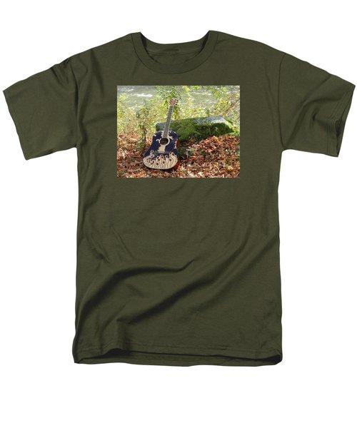 Traveling Musician Men's T-Shirt  (Regular Fit) by Krys Whitney