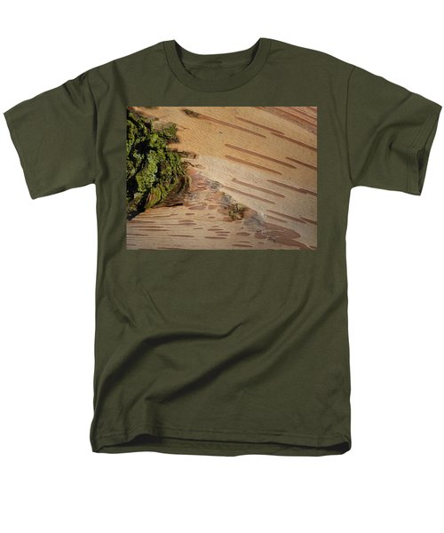 Tree Bark With Lichen Men's T-Shirt  (Regular Fit) by Margaret Brooks