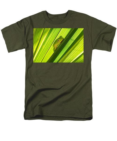 Tree Frog And Palm Frond Men's T-Shirt  (Regular Fit) by Kenneth Albin