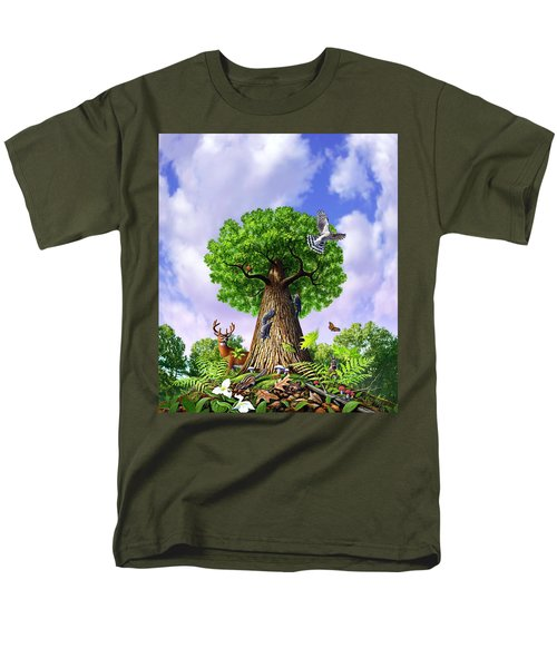 Tree Of Life Men's T-Shirt  (Regular Fit) by Jerry LoFaro