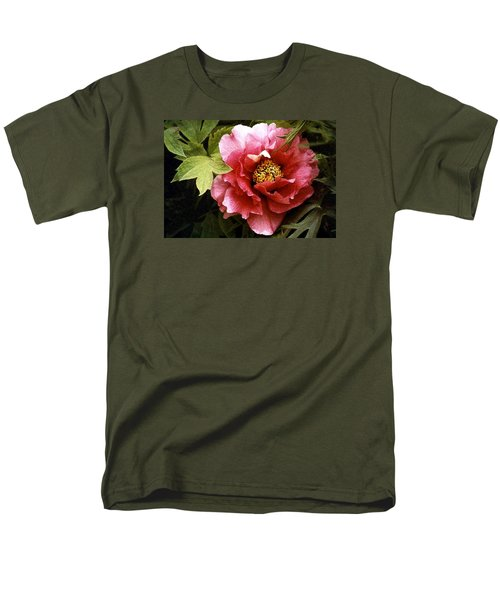Tree Peony Men's T-Shirt  (Regular Fit) by Janis Nussbaum Senungetuk