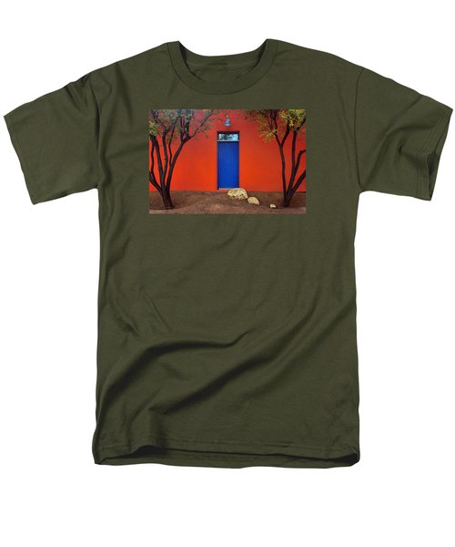 Trees And Door - Barrio Historico - Tucson Men's T-Shirt  (Regular Fit) by Nikolyn McDonald