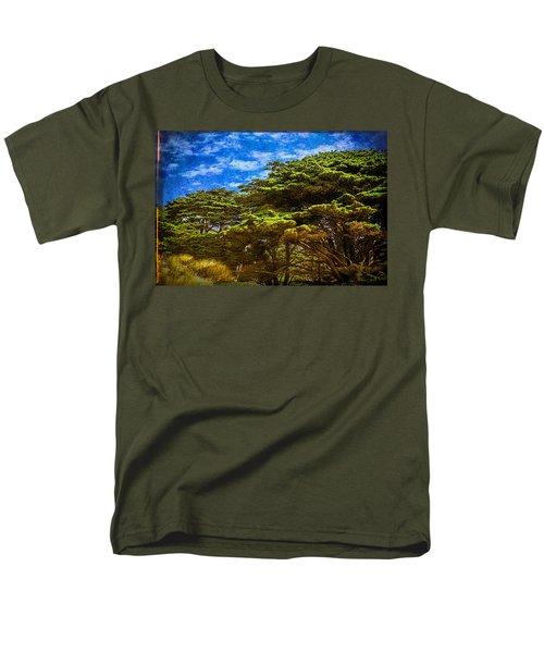 Trees On An Oregon Beach Men's T-Shirt  (Regular Fit) by John Brink