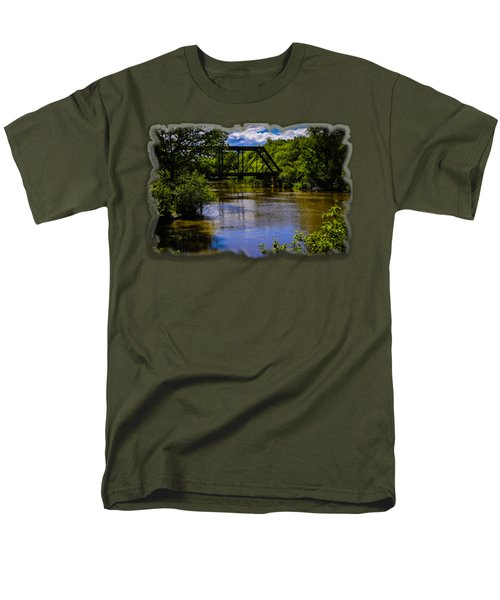 Trestle Over River Men's T-Shirt  (Regular Fit) by Mark Myhaver