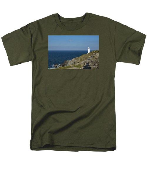 Trevose Head Lighthouse Men's T-Shirt  (Regular Fit) by Brian Roscorla