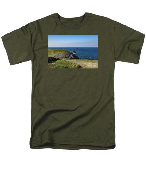 Trevose Headland Men's T-Shirt  (Regular Fit) by Brian Roscorla