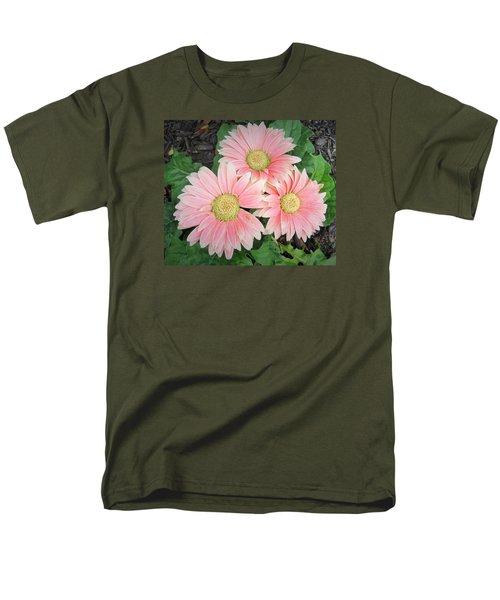 Trio Of Gerbers Men's T-Shirt  (Regular Fit) by Jeanette Oberholtzer