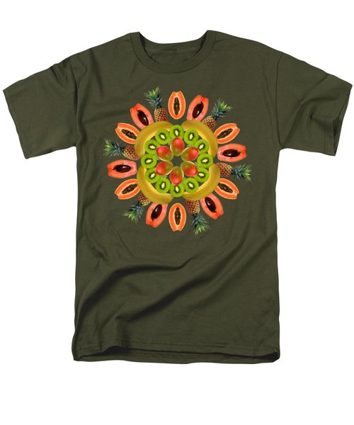 Tropical Fruits Men's T-Shirt  (Regular Fit) by Edelberto Cabrera
