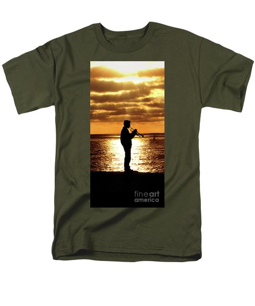 Trumpet Player Men's T-Shirt  (Regular Fit) by Linda Olsen