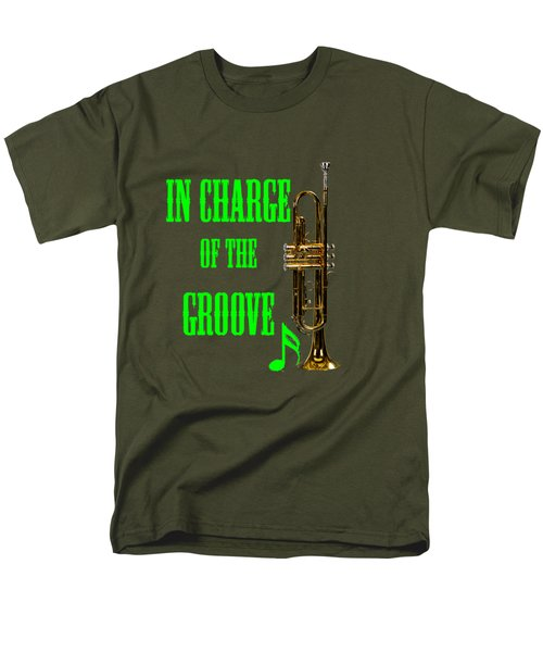 Trumpets In Charge Of The Groove 5535.02 Men's T-Shirt  (Regular Fit) by M K  Miller