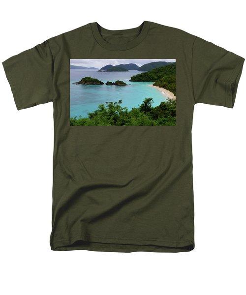 Men's T-Shirt  (Regular Fit) featuring the photograph Trunk Bay At U.s. Virgin Islands National Park by Jetson Nguyen