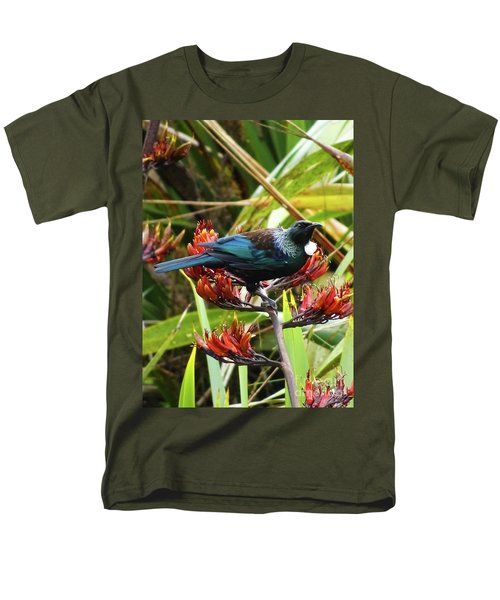 Tui In Flax Men's T-Shirt  (Regular Fit) by Angela DeFrias