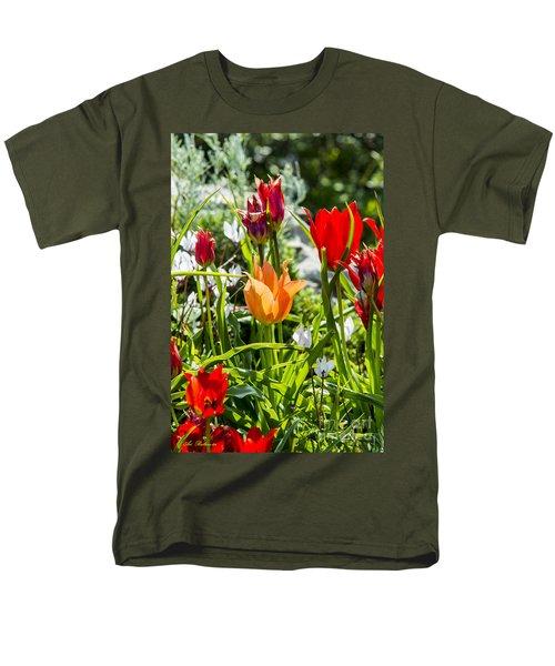 Tulip - The Orange One Men's T-Shirt  (Regular Fit) by Arik Baltinester
