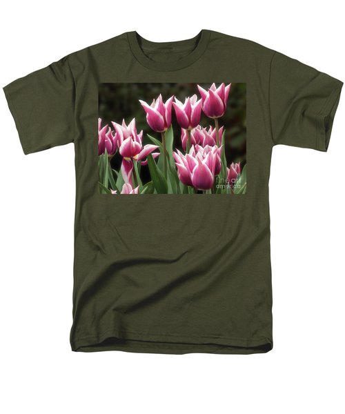 Tulips Bed  Men's T-Shirt  (Regular Fit) by Kim Tran