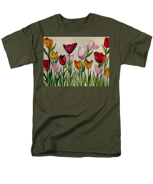 Tulips Men's T-Shirt  (Regular Fit) by Lisa Aerts
