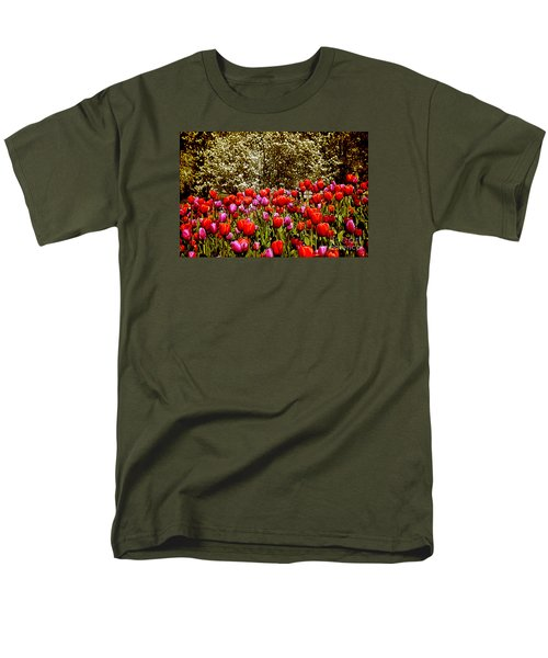 Men's T-Shirt  (Regular Fit) featuring the photograph Tulips by Milena Ilieva