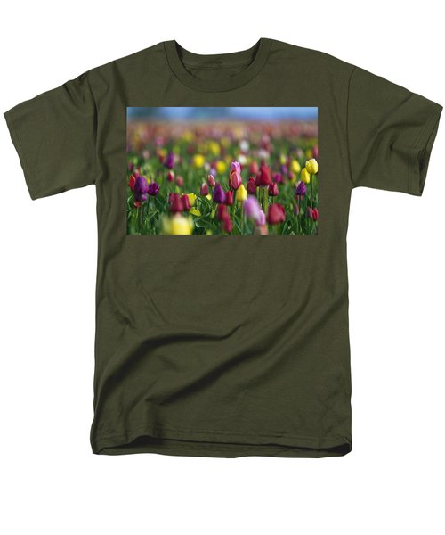 Men's T-Shirt  (Regular Fit) featuring the photograph Tulips by William Lee