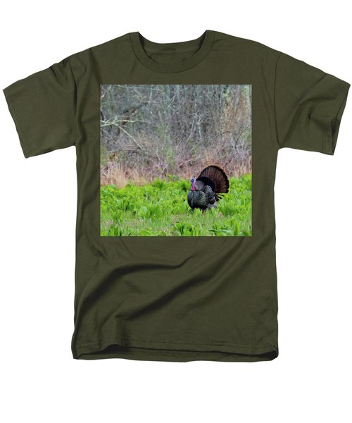 Men's T-Shirt  (Regular Fit) featuring the photograph Turkey And Cabbage Square by Bill Wakeley