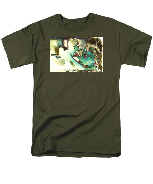 Men's T-Shirt  (Regular Fit) featuring the digital art Turquoise Embrace by Andrea Barbieri