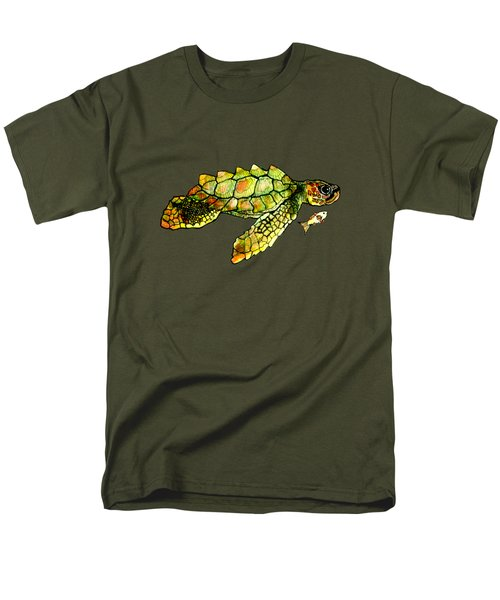 Turtle Talk Men's T-Shirt  (Regular Fit) by Candace Ho