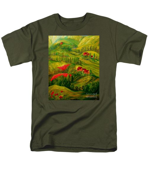 Men's T-Shirt  (Regular Fit) featuring the painting Tuscany At Dawn by Eloise Schneider