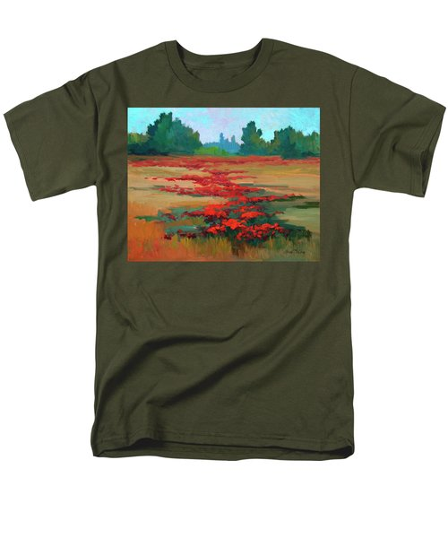 Tuscany Poppy Field Men's T-Shirt  (Regular Fit) by Diane McClary