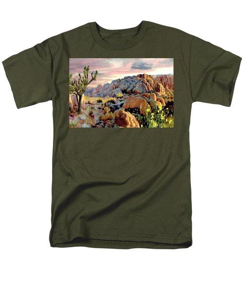 Twilight At Joshua Men's T-Shirt  (Regular Fit) by Ron Chambers