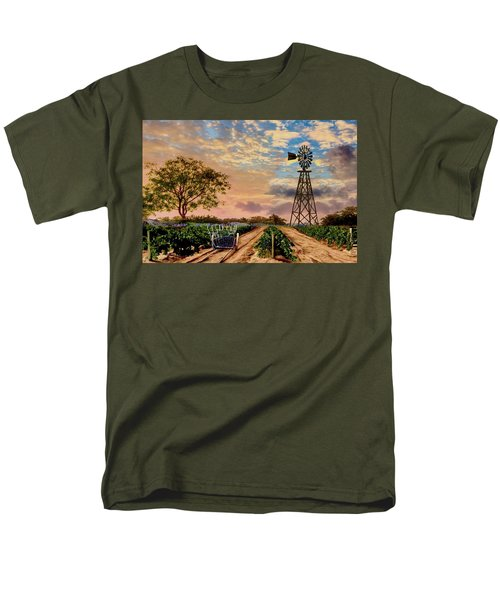 Twilight At The Vineyard Men's T-Shirt  (Regular Fit) by Ron Chambers