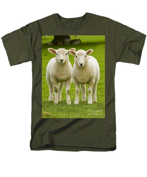 Twin Lambs Men's T-Shirt  (Regular Fit) by Meirion Matthias