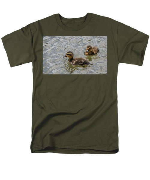 Two Baby Ducks Men's T-Shirt  (Regular Fit)