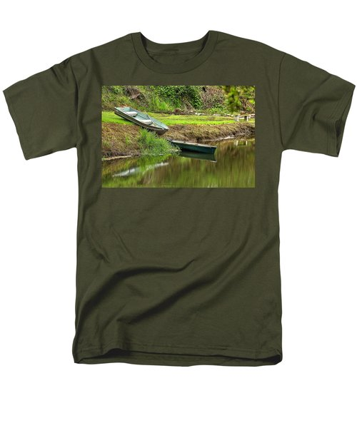 Two Boats And A Bench 1024 Men's T-Shirt  (Regular Fit) by Jerry Sodorff