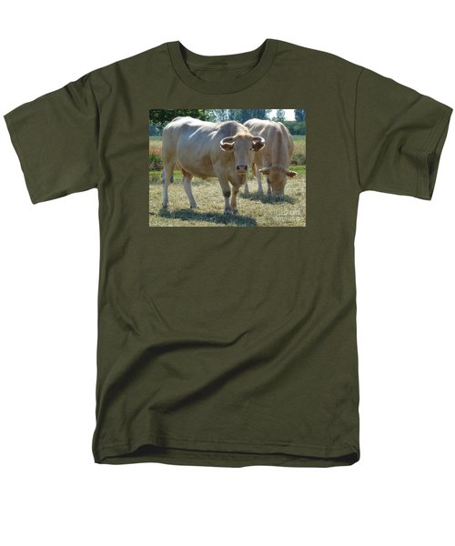 Men's T-Shirt  (Regular Fit) featuring the photograph Two Cows by Jean Bernard Roussilhe