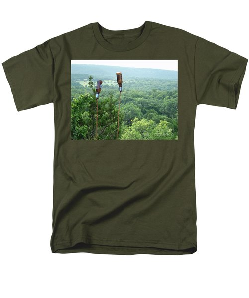 Men's T-Shirt  (Regular Fit) featuring the photograph Two For The Road by Joe Jake Pratt