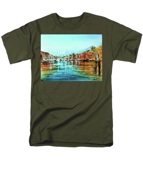 Two Harbors Catalina Morning Impressions Men's T-Shirt  (Regular Fit) by Debbie Lewis