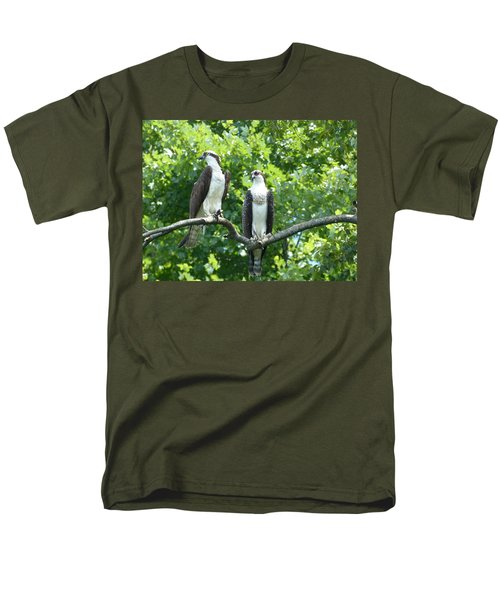 Men's T-Shirt  (Regular Fit) featuring the photograph Two On A Limb - Osprey by Donald C Morgan