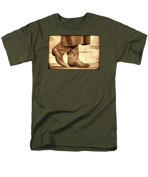 Two Step Men's T-Shirt  (Regular Fit) by American West Legend By Olivier Le Queinec