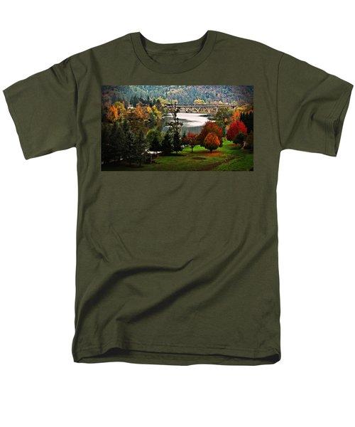 Umpqua Bridge In The Fall Men's T-Shirt  (Regular Fit) by Katie Wing Vigil