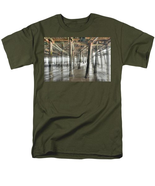 Men's T-Shirt  (Regular Fit) featuring the photograph Under The Boardwalk Into The Light by David Zanzinger