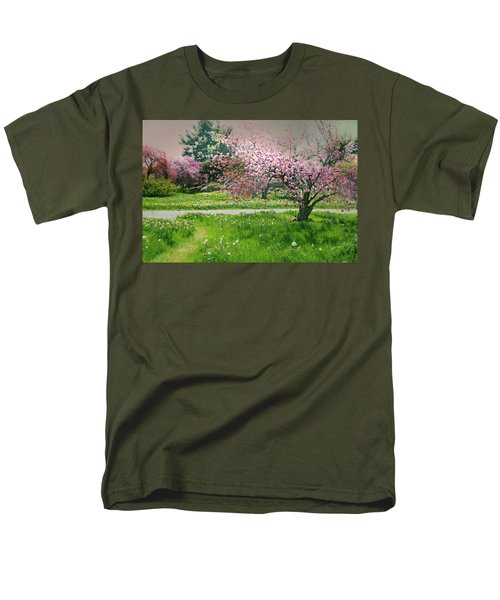 Men's T-Shirt  (Regular Fit) featuring the photograph Under The Cherry Tree by Diana Angstadt
