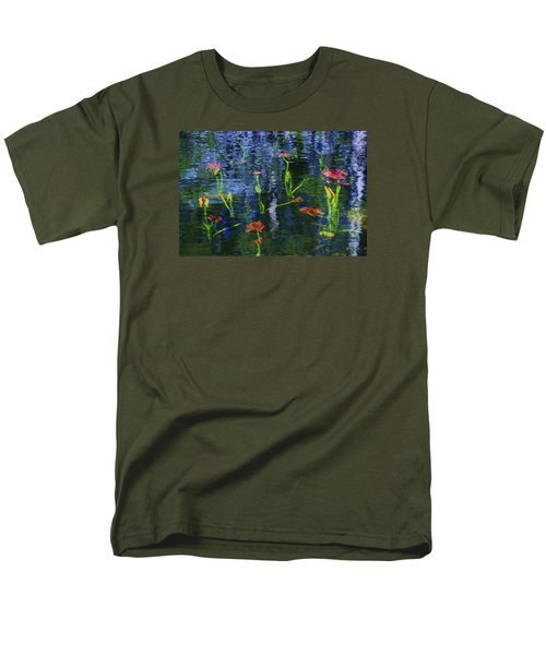 Men's T-Shirt  (Regular Fit) featuring the photograph Underwater Lilies by Sean Sarsfield