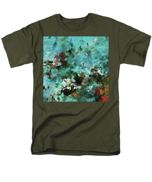 Men's T-Shirt  (Regular Fit) featuring the painting Unique Abstract Art / Landscape Painting by Ayse Deniz