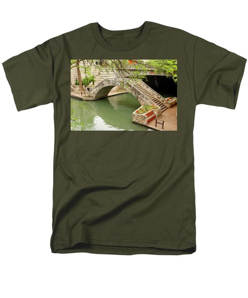 Men's T-Shirt  (Regular Fit) featuring the photograph Up And Over - San Antonio River Walk by Art Block Collections