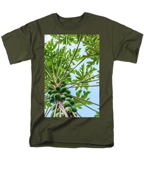 Up The Papaya Men's T-Shirt  (Regular Fit) by Denise Bird
