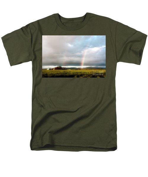 Valley Rainbows 1 Men's T-Shirt  (Regular Fit) by Janie Johnson