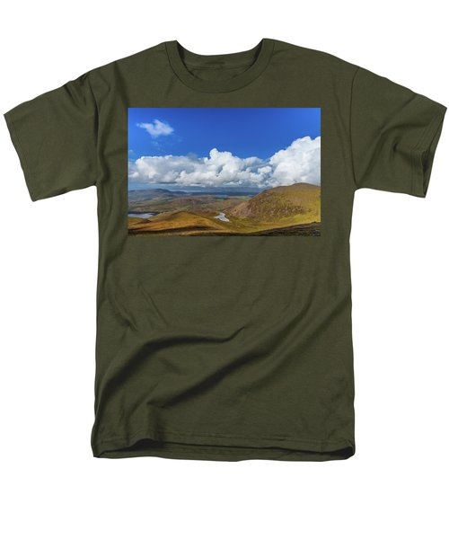 Men's T-Shirt  (Regular Fit) featuring the photograph Valleys And Mountains In County Kerry On A Summer Day by Semmick Photo