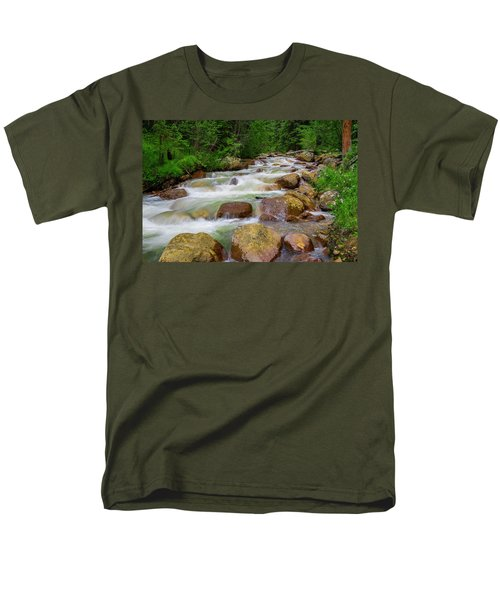 Men's T-Shirt  (Regular Fit) featuring the photograph Velvet Green Forest by Tim Reaves