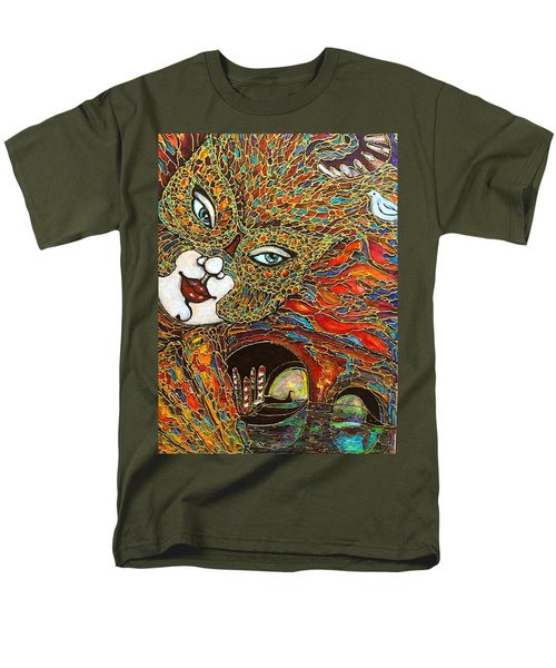 Men's T-Shirt  (Regular Fit) featuring the painting Venezia by Rae Chichilnitsky