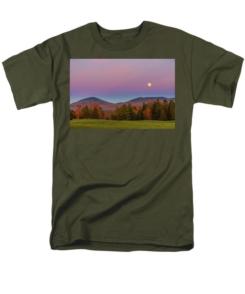 Vermont Fall, Full Moon And Belt Of Venus Men's T-Shirt  (Regular Fit) by Tim Kirchoff