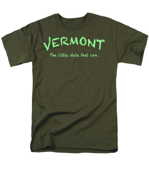 Vermont Little State Men's T-Shirt  (Regular Fit) by George Robinson