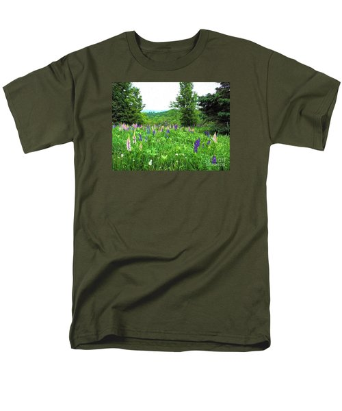 Men's T-Shirt  (Regular Fit) featuring the painting Vermont Lupine by Mim White